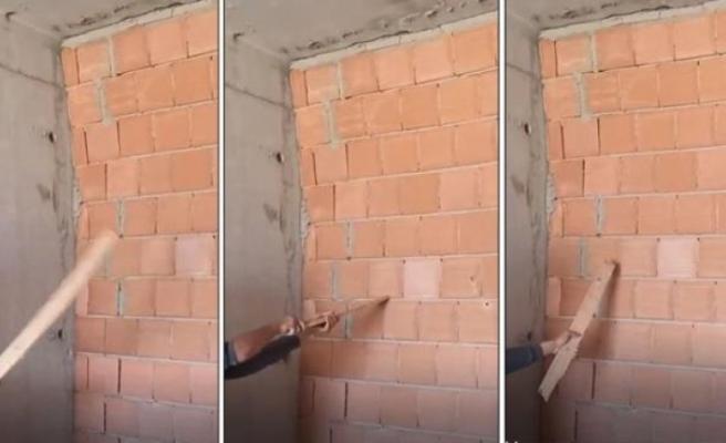 İnşaat İşçisi Sallanan Duvarı Göstererek İsyan Etti! İnsan Hayatı Bu Kadar Ucuz Mu?