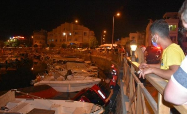 Marmaris'te Dereye Uçan Cip Suya Gömüldü