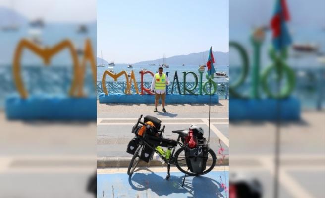 Türkiye Turuna Çıkan Kazak Sporcu Kushuyev, Marmaris'e Ulaştı