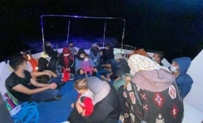 Bodrum'da Yunanistan'ın Geri İttiği 18 Göçmen Kurtarıldı