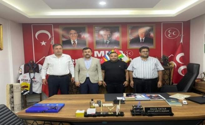 Gazeteci Ferhat Aydoğan'dan MHP Şırnak İl Başkanı Tatar'a Ziyaret