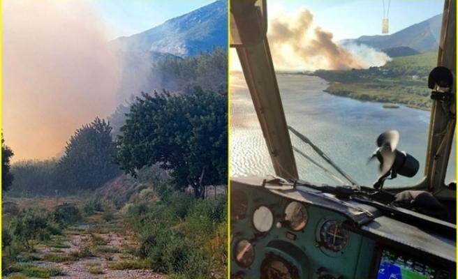 Söke'de Çıkan Orman Yangınına Havadan Müdahale Ediliyor