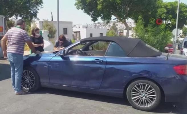 'Survivor Poyraz' Spor Otomobili ile Bodrum'da Kaza Yaptı