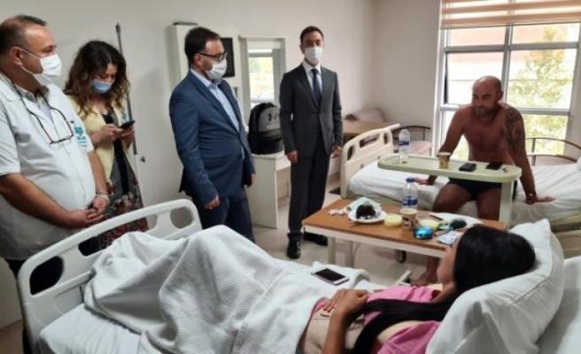 Ukrayna Antalya Konsolosu Menteşe'deki Kazada Yaralanan Turistleri Ziyaret Etti