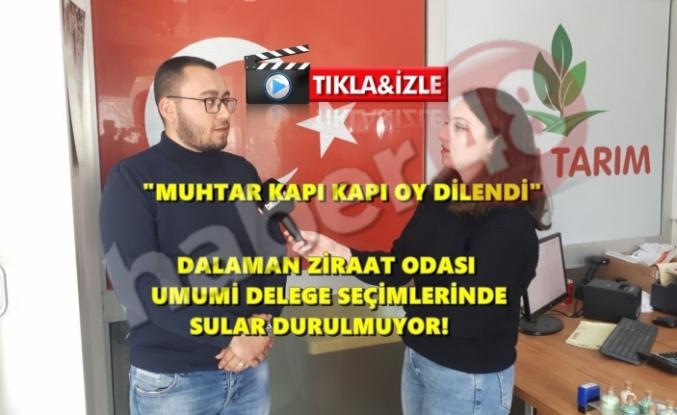 """""""DALAMAN'DA MUHTAR KAPI KAPI OY DİLENDİ!"""""""