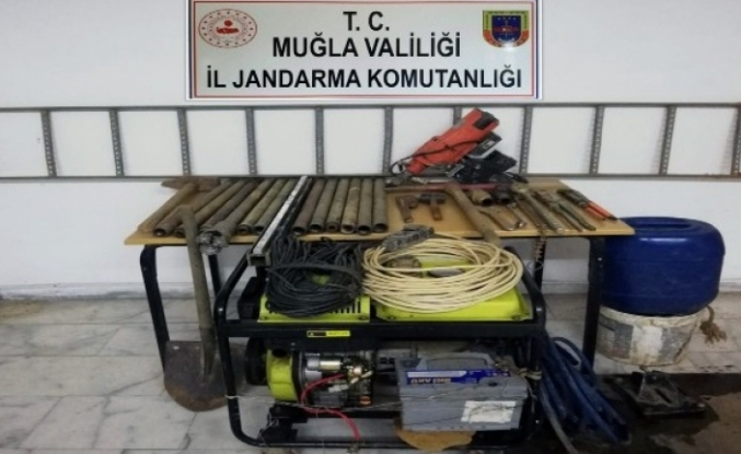 Kavaklıdere'de Kaçak Kazıya 7 Gözaltı
