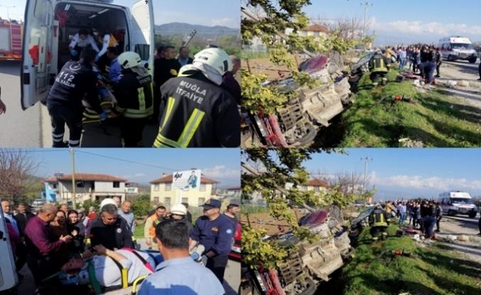 Seydikemer'de İki Otomobil Çarpıştı: 6 Yaralı