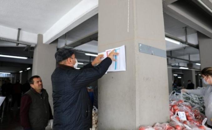 Marmaris'te Pazar Tezgahlarına Koronavirüs Önlemi