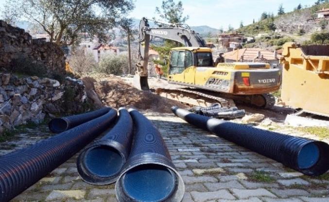 Kavaklıdere Kanalizasyon Çalışmalarında Sona Yaklaşıldı