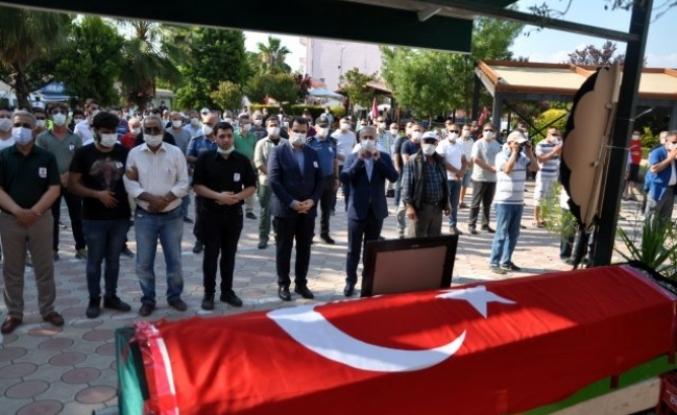 Dalaman'da Vefat Eden Polis Memuru Son Yolculuğuna Uğurlandı