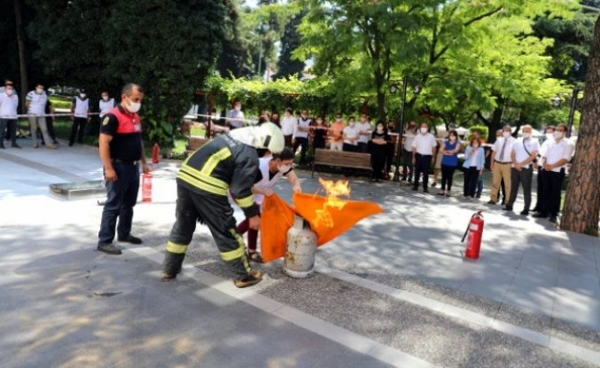 Muğla'da Belediye Çalışanlarına Deprem ve Yangın Tatbikatı