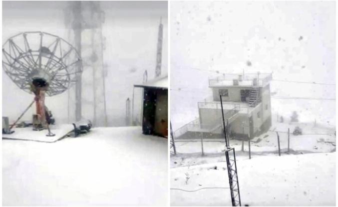 Muğla'nın Kavaklıdere İlçesinde Kar Kalınlığı 10 Santime Ulaştı