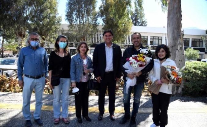Haluk Levent ve Melek Mosso Fethiye Belediye Başkanı Alim Karaca'yı Ziyaret Etti