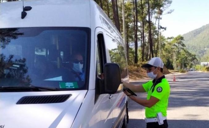 Marmaris'teki Toplu Taşıma Araçlarında Denetimler Sürüyor