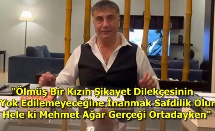 Sedat Peker'den Jandarma Genel Komutanlığı'na Cevap: Buna İnanmak Safdillik Olur