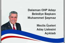 DALAMAN CHP BELEDİYE MECLİS ÜYESİ ADAYLARI BELLİ OLDU