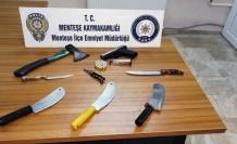 Yol Kontrolünde Çok Sayıda Suç Aleti Ele Geçirildi