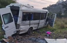 Bodrum'da Minibüs Takla Attı: 11 İşçi Yaralı!
