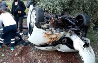 Bodrum'da Otomobil Devrildi: 3 Yaralı