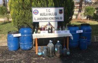 Yatağan'da 500 Litre Kaçak İçki