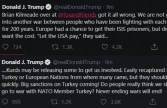 ABD BAŞKANI TRUMP: TÜRKİYE'YE BÜYÜK YAPTIRIMLAR GELİYOR