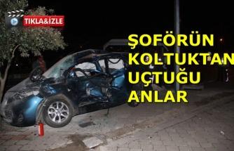 1 kişinin öldüğü trafik kazasında şoför koltuktan uçtu!
