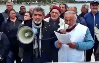 Datça'da Emekliler Eylem Yaptı