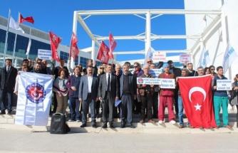 """Türk Sağlık-Senliler """"Döner Sermaye""""yi Protesto Etti"""