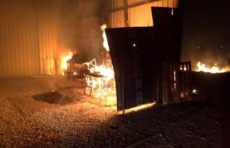 Mobilya Deposunda Çıkan Yangın Korkuttu!