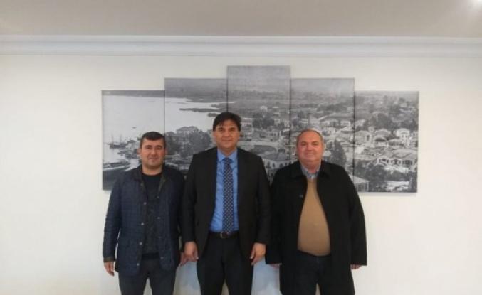 CHP'li İlçe Başkanları Alim Karaca'yı Ziyaret Etti