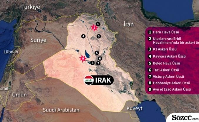 İran ABD'nin Irak'taki Üslerini Vurdu!