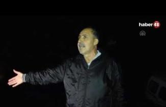 Marmaris'te Aşırı Yağış Sebebiyle Araç Dereye Düştü